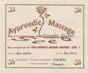 Ayurvedic Yoga Massage Certificate